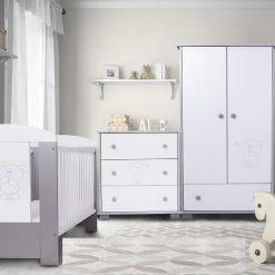 Babykamer Beertje Silver/Ecru