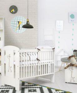 Babykamer Giraffe Ecru/Wit