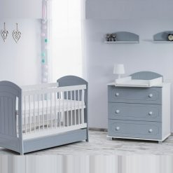 Babykamer Gucio Grey/White/Wenge